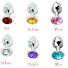 Unisex - Stainless Steel Jeweled Butt Plug Anal Massager Plug Sex Toys SML Funny Game