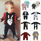 Newborn Baby Kids Boy Girl Infant Romper Jumpsuit Bodysuit Cotton Clothes Outfit