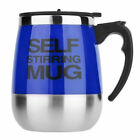 New 450ml Stainless Self Stirring Mug Auto Mixing Drink Tea Coffee Cup Home