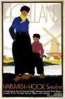 Vintage Holland Harwich Hook Service Travel Picture Poster Art Re-Print A3 A4