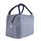 Portable Striped Insulated Thermal Cooler Lunch Carry Tote Picnic Storage Bag SG