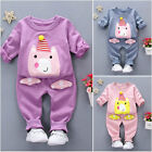 HOT!2PC Kids Toddler Baby Boys Girls Long sleeve T-Shirt+Pants Clothes Outfits