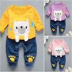 2PC Kids Toddler Baby Boys Girls Bear T-Shirt+Pants Infant Casual Clothes Outfit