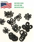 Внешний вид - M2, M2.5, M3, M4,M5, M6, M8, M10, M12 black Plastic Nylon Flat Spacer Washer