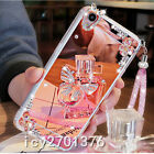 Luxury Bling Diamond Crystal Ring Holder stand Mirror Phone Case Cover & strap 8