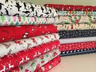 **Christmas** 100% Cotton Craft Fabric *stag deer scotty snowflakes wreaths*