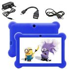7'' Android Tablet 4.4 HD Quad Core Dual Camera WiFi KitKat Bundle for Kids Gift