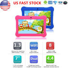 7'' Tablet Android 4.4 HD Quad Core Dual Camera WiFi KitKat Bundle for Kids Gift