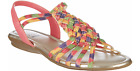 IMPO Stretch Womens Beatrice SANDAL Navy Watercolor Blue Pink Multi Size 7 NWOT