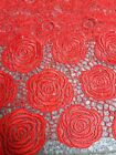 ELEGANT GUIPURE FLORAL EMBROIDERED BRIDAL CORD LACE FABRIC 5YDS