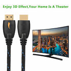 HDMI to HDMI Cable 3D Support,Ethernet Function,4K,HDMI Lead for TV Laptop XBOX