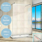 Luxury Wet Room Shower Screen Enclosure Panel Walk In 8mm NANO Glass Double Bar