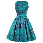 Lady Vintage Teal Butterfly Tea Dress Rockabilly Retro Vintage Pin Up