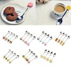 Cute Kids Resin Dessert Ice Cream Cake Stainless Steel  Coffee Teaspoon Spoons