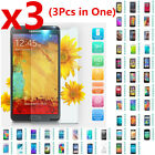 3Pcs Premium Real Tempered Glass Screen Protector Film Cover for Mobile Phones