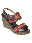 Spring Step L'Artiste Collection Sharina Women's Sandals Black Multi EU 37 US 7