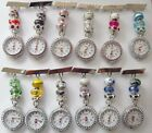 Pretty Beaded Nurses/Carers/Beauticians Crystal faced Fobwatch £9.99 - 16.99