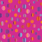 PATIO SPLASH DOTS RAINBOW PINK BENARTEX QUILT SEWING FABRIC *Free Oz Post