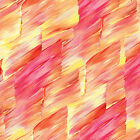 PATIO SPLASH BRUSHSTROKES PINK YELLOW BENARTEX QUILT SEWING FABRIC *Free Oz Post