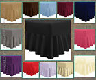Plain Dyed Fitted Valance Frilled PolyCotton Bed Sheet Single Double & King Size