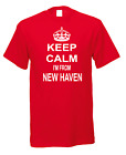 Keep Calm I'm From New Haven Connecticut America American USA T-shirt