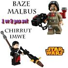 New Star Wars Chirrut Imwe Baze Malbus Rogue One Minifigures Building Blocks $4.61 CAD