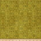 EXOTIC MEDALLION BLENDER OLIVE QUILT SEWING FABRIC *Free Oz Post
