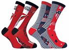 Coca Cola - 2 Pack Womens Thin Striped Red Novelty Funky Cotton Crew Dress Socks $18.88  on eBay