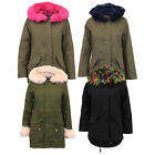ladies jacket Brave Soul parka coat hooded fur sherpa fleece lined winter new