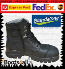 New Blundstone Mens Work Boots Safety Steel Toe Zip Lace Up 997 Best Seller