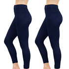 2 Pack Womens Fleece Leggings Thermal Warm Thick Full Length - 4 Colours!
