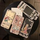 Cartoon Tempered Front Glass Film Screen Protector+Back Case For iPhone 6 7 8P