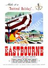 Eastbourne: Vintage Railway Seaside Travel , Wall art , poster, Reproduction.