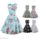 US FAST Vintage 50s 60s Retro Style Rockabilly Pinup Housewife Party Swing Dress
