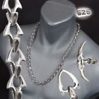 """HEAVY SHARK BARAKA 925 STERLING SOLID SILVER MENS NECKLACE CHAIN 26 28 30 32"""""""