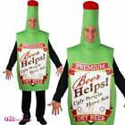 Tequila Vodka Beer Drinks Bottle Stag Night Party Mens Adult Fancy Dress Costume