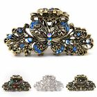 USA Woman Large elegant metal butterfly rhinestones crystal hair claw Clip pin
