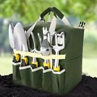 10 Pcs Gardening Tool Set with Backrest Detachable Tote and Folding Stool Seat