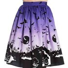 Hell Bunny Haunt 50s Skirt Halloween Gothic Rockabilly Retro Vintage Punk Plus
