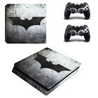 Batman Skin For PS4 Slim Console Sticker For Sony Playstaion 4 Slim Skins + 2Pcs