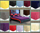 Plain Dyed Fitted Frill Valance Poly Cotton Bed Sheet Single Double & King Sizes