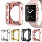 For Apple Watch iWatch 38 42mm Electroplate TPU Bumper Protector Case Cover Lot