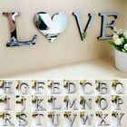 1Pcs 3D Mirror Wall Sticker Letters DIY Art Mural Home Room Decor Acrylic Decals
