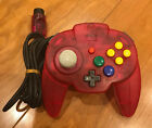 Nintendo 64 Hori Pad Mini Controller - Clear Red - USED - Tested & Working