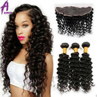 13*4 Lace Frontal closure with 3 Bundles Brazilian Hair Human Hair Curly Hair