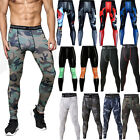 Men Athletic Compression Tight Base Layer Pants Long Workout Leggings Gym Sport