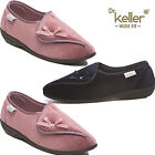 LADIES DR KELLER TOUCH FASTENING WIDE FIT ORTHOPAEDIC SLIPPERS INDOOR SHOES SZ