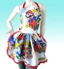 Mario Bros Legend of Zelda Apron Retro Ruffle Dinner Party Hostess Link NES