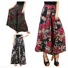 Womens Floral Casual High Elastic Waist Pants Wide Leg Loose Trousers GIFT
