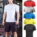Mens Sports Compression T Shirts Dri Fit Workout Athletic Plain Tee Short Sleeve